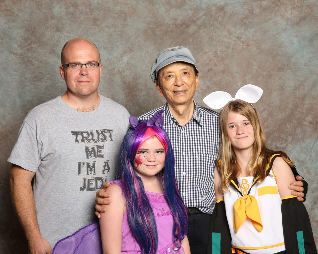 The girls and I with James Hong.