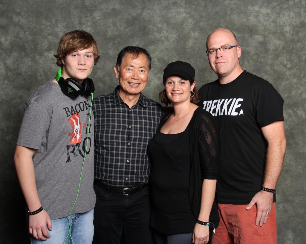 My son, George Takei, my wife, and I.