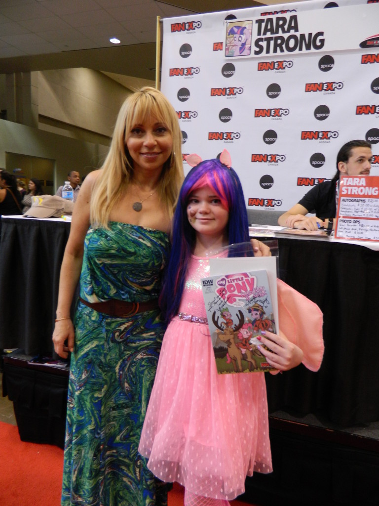Tara Strong with my youngest.