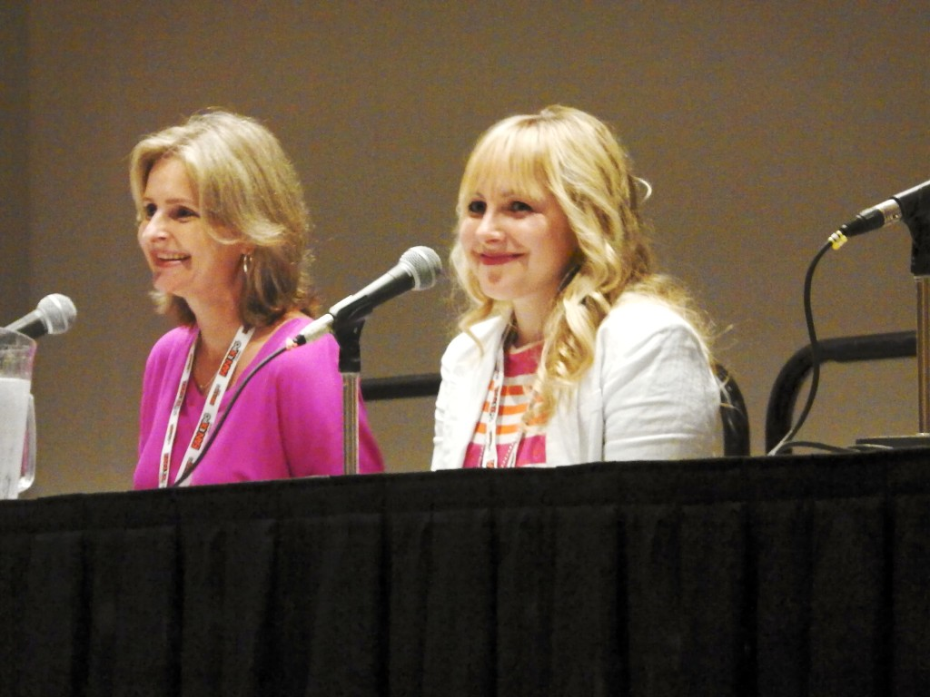 Cathy Weseluck (left), Andrea Libman (right)