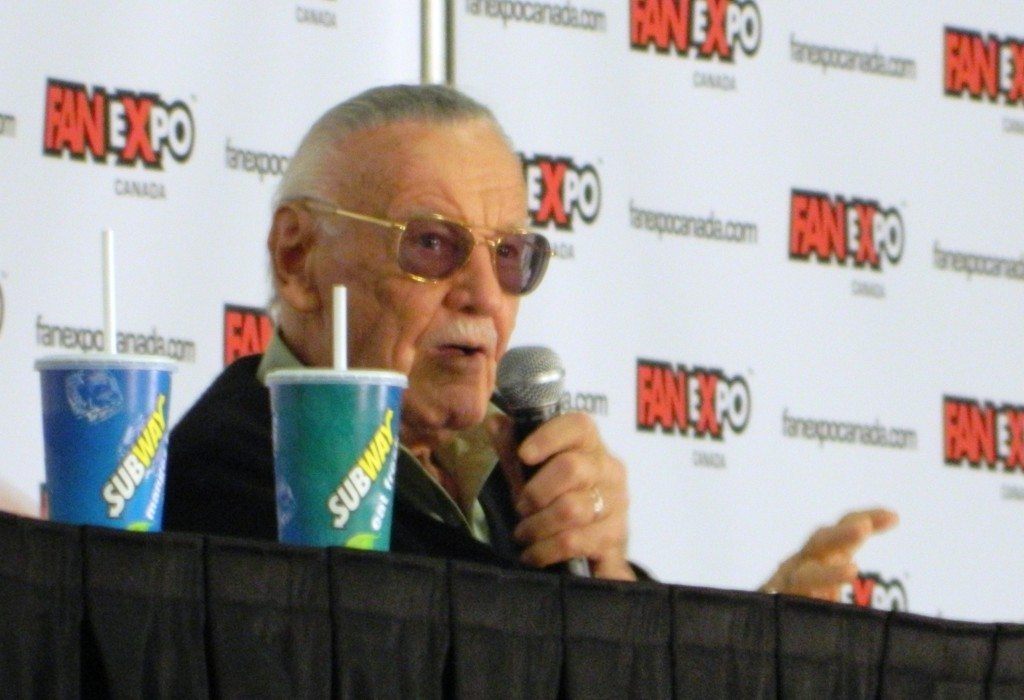 Stan Lee and his drink courtesy of Subway