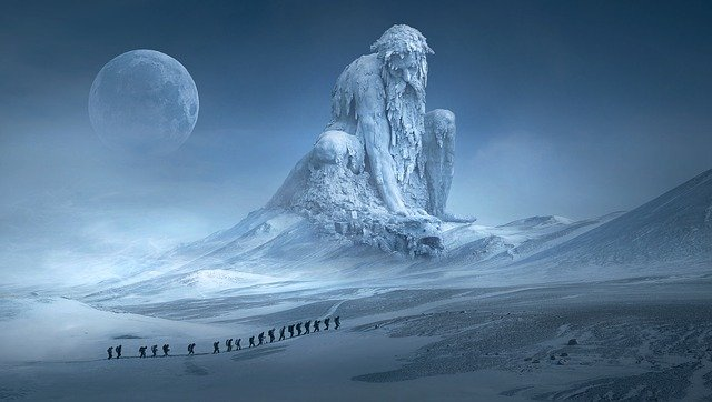 Ice Giant & Subdued Dragon